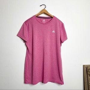 Adidas Pink Climalite Athletic Shirt - XL